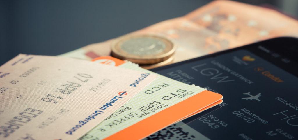 billet d'avion voyage